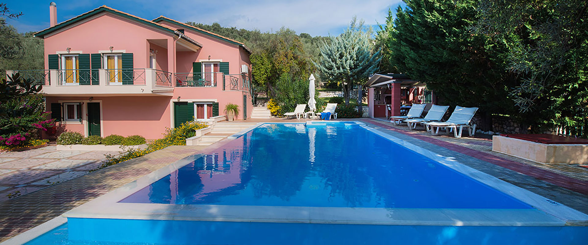 private swimming pool for each villa